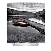 Lake And Boats Shower Curtain