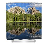 Lake Antorno Shower Curtain by Yair Karelic