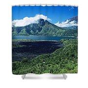 Lake Batur Shower Curtain