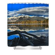 Lake Beauvert Roots Shower Curtain