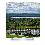 Lake Bellaire, Bellaire Michigan Shower Curtain