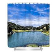 Lake Berressa Under Bridge Shower Curtain
