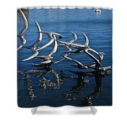 Lake Birds Shower Curtain