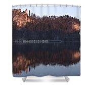 Lake Bled At Dawn Shower Curtain