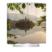Lake Bled In The Morning Shower Curtain