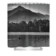 Lake Bled Rower - Slovenia Shower Curtain