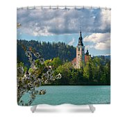 Lake Bled, Slovenia Shower Curtain
