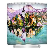 Lake Bled - Slovenia Shower Curtain