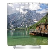 Lake Braies Shower Curtain