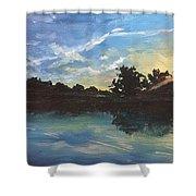 Lake Bridgeland Shower Curtain