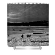 Lake Bw Shower Curtain