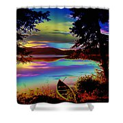 Lake Canoe Shower Curtain