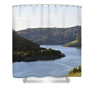 Lake Chabot On A Sunny Day Shower Curtain