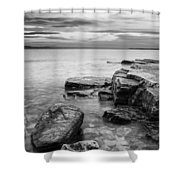 Lake Champlain-vermont-sunrise-storm Shower Curtain