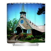 Lake Church Shower Curtain