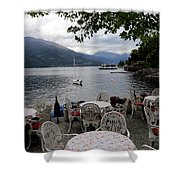 Lake Como 14 Shower Curtain