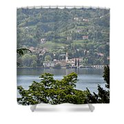 Lake Como View From Villa Carlotta Italy Shower Curtain