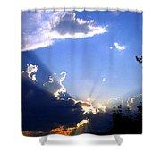 Lake Country Sunburst Shower Curtain