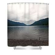 Lake Crescent Four Shower Curtain