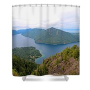 Lake Crescent  Shower Curtain