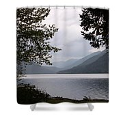 Lake Crescent Through The Trees Shower Curtain