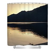Lake Cresent At Dusk Shower Curtain