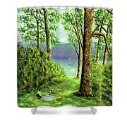 Lake Derwentwater - Lake District Shower Curtain