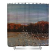 Quiet Lake Morning At Lake Dunn Village Creek State Park Ar Shower Curtain