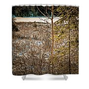 Lake Edge Shower Curtain