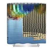 Lake Eola Reflections Shower Curtain