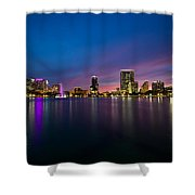 Lake Eola Sunset Shower Curtain