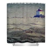 Lake Erie Lighthouse Shower Curtain