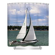 Lake Erie Sailing 8092 Shower Curtain