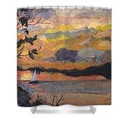 Lake Erie Sunset Shower Curtain