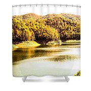 Lake Fantana In The Mountans Shower Curtain