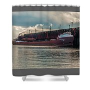 Lake Freighter - Honorable James L Oberstar Shower Curtain