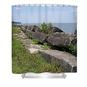 Lake Front Park Shower Curtain