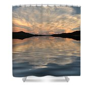 Lake Front Sunset Shower Curtain