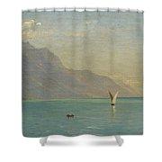 Lake Geneva. Switzerland Shower Curtain