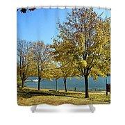 Lake George  12 Shower Curtain