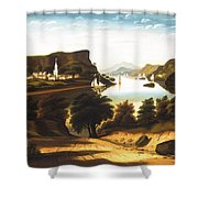 Lake George And The Village Shower Curtain