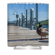Lake George Duck Shower Curtain