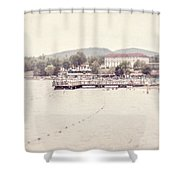 Lake George Village Shower Curtain