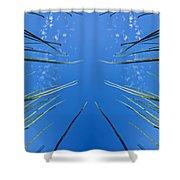 Lake Grass Reflection Shower Curtain