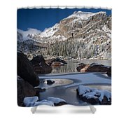 Lake Haiyaha  Shower Curtain