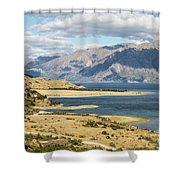 Lake Hawea In New Zealand Shower Curtain