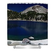Lake Helen Lassen  Shower Curtain