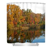 Lake Helene And Fall Foliage Shower Curtain