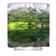 Lake Hintersee Shower Curtain