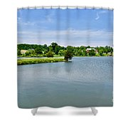 Lake House Property Shower Curtain